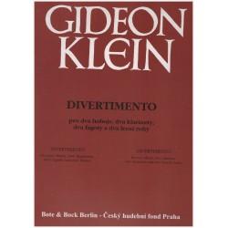 Klein Gidoen - Divertimento pro dva hoboje, dva klarinety,