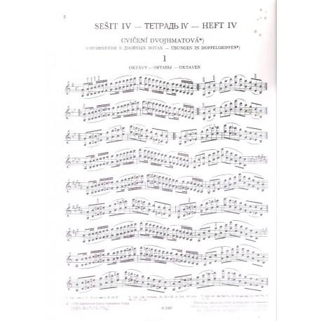 ševčík - Opus 1 sešit IV