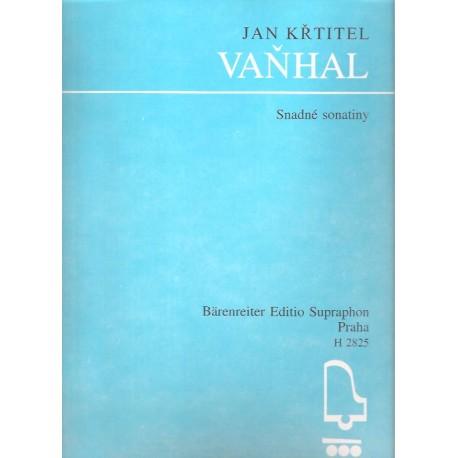 Vaňhal J.K. - Snadné sonatiny