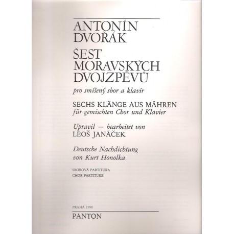 Dvořák Antonín- Šest Moravských dvojzpěvů