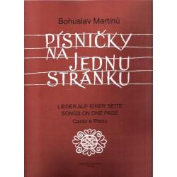Martinů Bohuslav - Písničky na jednu stránku