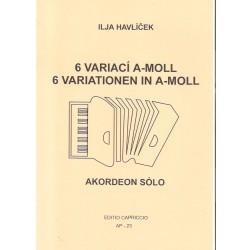 Havlíček Ilja - 6 variací A-moll