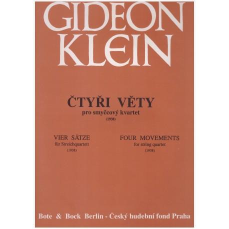 Klein G.- Čtyři věty