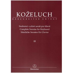 Koželuh L.- Sonáty pro klavír III