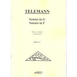 Telemann G.P.- Sonata in G a F