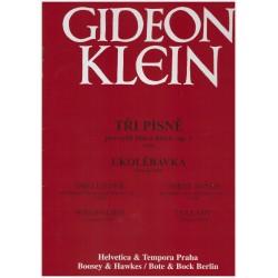 Klein G. - Tři písně, Ukolébavka