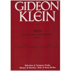 Klein G.- Duo pro housle a violoncello