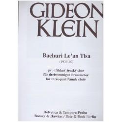 Klein G.- Bachuri Le an Tisa