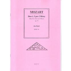 Mozart W.A.- Duo č.5 pro 2 flétny