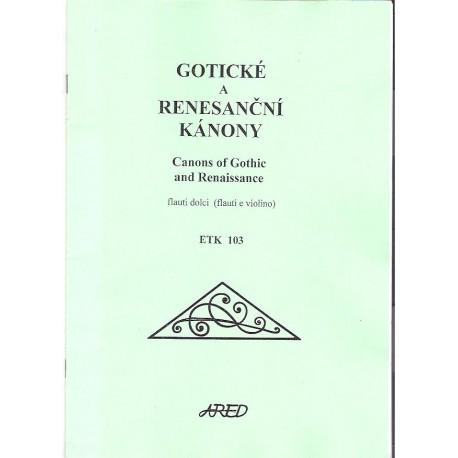 - Gotické a renesanční kánony