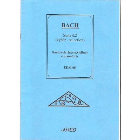 Bach J.S. - Suita č.2 pro flétnu nebo klarinet a klqavír