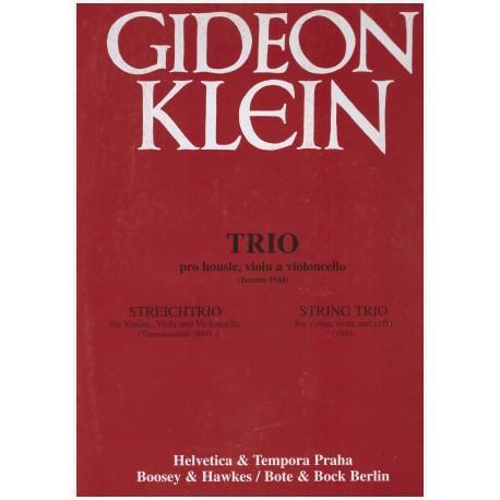 Klein G.- Trio pro housle,violu a violon