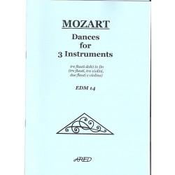 Mozart W.A.-Tance pro tři nástroje